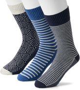 Levi's Men's 3-pack Vintage Striped & Patterned Fashion Socks