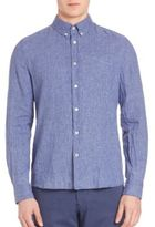 J. Lindeberg Dani Button-Down Linen Shirt