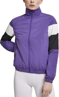 Urban Classics Women's Ladies 3-Tone Crinkle Track Jacket