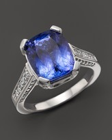 Bloomingdale's Cushion-Cut Tanzanite and Diamond Ring in 14K White Gold - 100% Exclusive