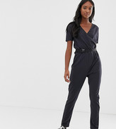 Noisy May Tall utility buckled jumpsuit in black