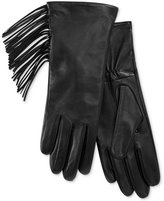 Charter Club Side Fringe Leather Tech Gloves, Only at Macy's