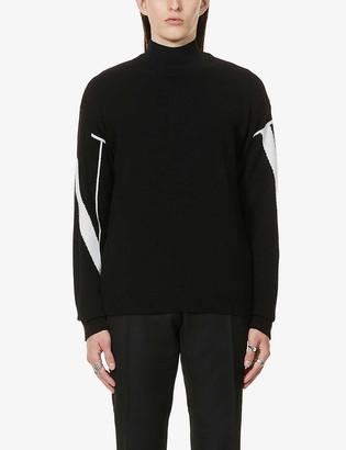 Valentino Logo-knit cashmere jumper