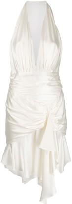 Alexandre Vauthier Silk Halterneck Short Dress