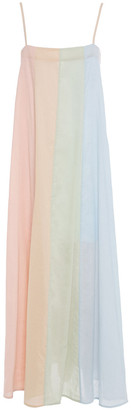 Mara Hoffman Philomena Color-block Cotton-gauze Maxi Dress
