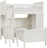 Pottery Barn Kids Camp Bunk System with Twin Bed, Simply White