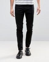 Rollas Stinger Low Rise Super Skinny Jean Jet Black Wash