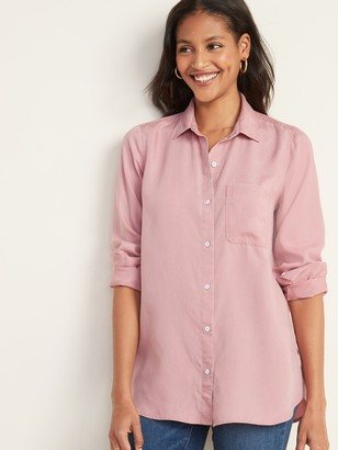 Old Navy Pigment-Dyed Tencel Twill Shirt for Women
