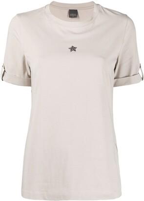 Lorena Antoniazzi crystal star applique T-shirt