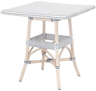 One Kings Lane Caen Outdoor Dining Table - White/Blue
