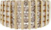 One Kings Lane Vintage 14k Yellow Gold Diamond Multi Row Band