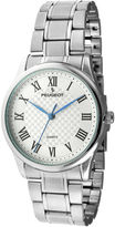 Peugeot Mens Roman Guillouch Silver-Tone Watch
