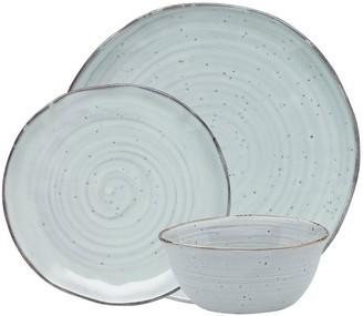 Alex Liddy Lyla Porcelain 12 Piece Dinner Set Sage Green