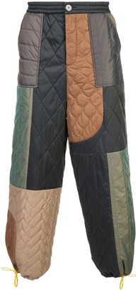 Mostly Heard Rarely Seen Colour-Block Quilted Trousers