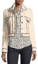 Veronica Beard Vita Cropped Tweed Jacket