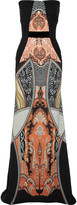 Etro Strapless printed gown