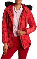 Desigual Bubble Jacket With Faux Fur Hood