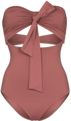 BONDI BORN Chelsea strapless swimsuit