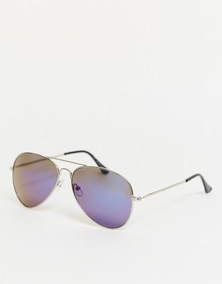 SVNX tinted aviator sunglasses