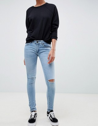 Criminal Damage Ripped Knee Skinny Jeans