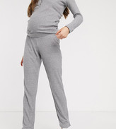 Mama Licious Mama.Licious Mamalicious maternity knitted lounge pants in gray