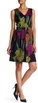 Sangria DBJW1176 Multi-Printed Pleated A-line Dress