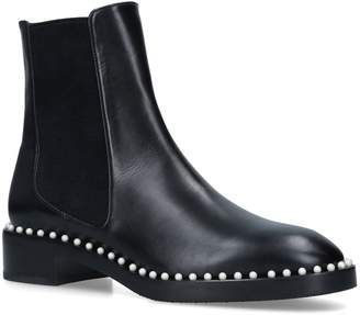 Stuart Weitzman Leather Cline Chelsea Boots