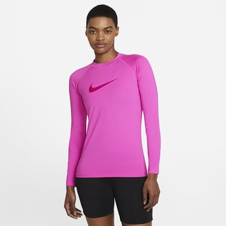 Nike Women's Long-Sleeve Hydroguard Solid Logo