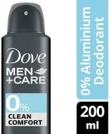 Dove Men 0% Aluminium Clean Comfort DeoAerosol 200ml