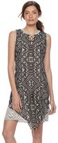 Dana Buchman Women's Lace-Up Chiffon Dress