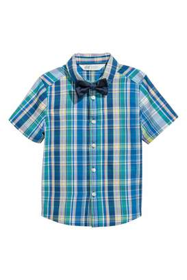 H&M Shirt with Tie/Bow Tie - White/tie - Kids