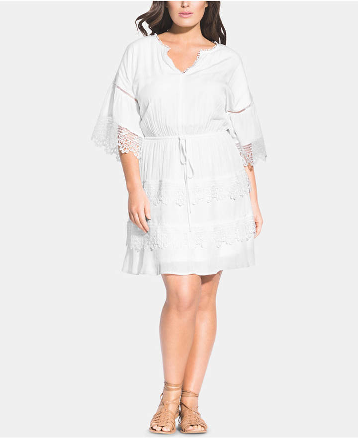 1088d46e0d0 Plus Size Crochet Dress - ShopStyle