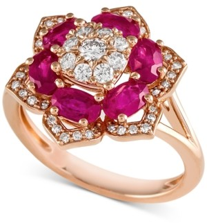 Macy's Emerald (1-3/4 ct. t.w.) and Diamond (1/2 ct. t.w.) Ring in 14k Gold (Also available in Sapphire and Certified Ruby)