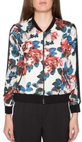 Willow & Clay Women's Floral Print Bomber Jacket