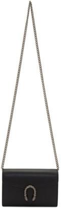 Gucci Black Mini Dionysus Wallet Chain Bag