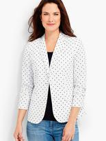 Talbots Embroidered Dot Blazer