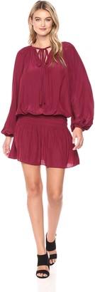 Ramy Brook Women's Paris Elastic Waist Long Sleeve Blouson Dress