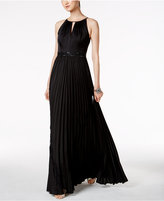 Adrianna Papell Embellished Satin Gown