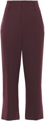 Vince Cropped Stretch-cady Straight-leg Pants