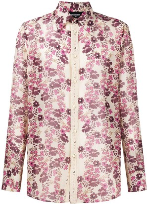 DSQUARED2 Floral Print Long-Sleeve Shirt