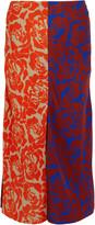 Jonathan Saunders Carine paneled printed crepe skirt
