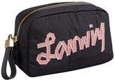 Lanvin black logo nylon cosmetic case