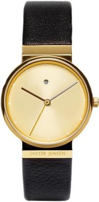 Jacob Jensen Womens Analogue Classic Quartz Watch with Leather Strap JJ855