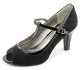 Karen Scott Neena Women Peep-toe Synthetic Black Heels.