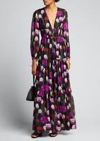 Borgo de Nor Freya Tulip Georgette Maxi Dress