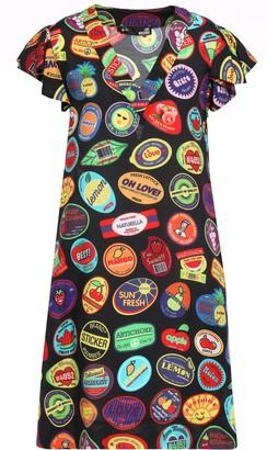 Love Moschino Ruffle-trimmed Printed Woven Mini Dress