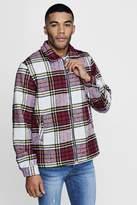 boohoo Brushed Check Harrington Jacket
