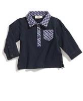 Armani Junior Long Sleeve Piqué Polo (Baby Boys)