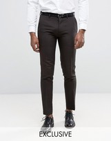 Only & Sons Skinny Trousers In Tonic