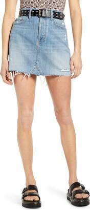 DAZE Lovergirl Denim Miniskirt